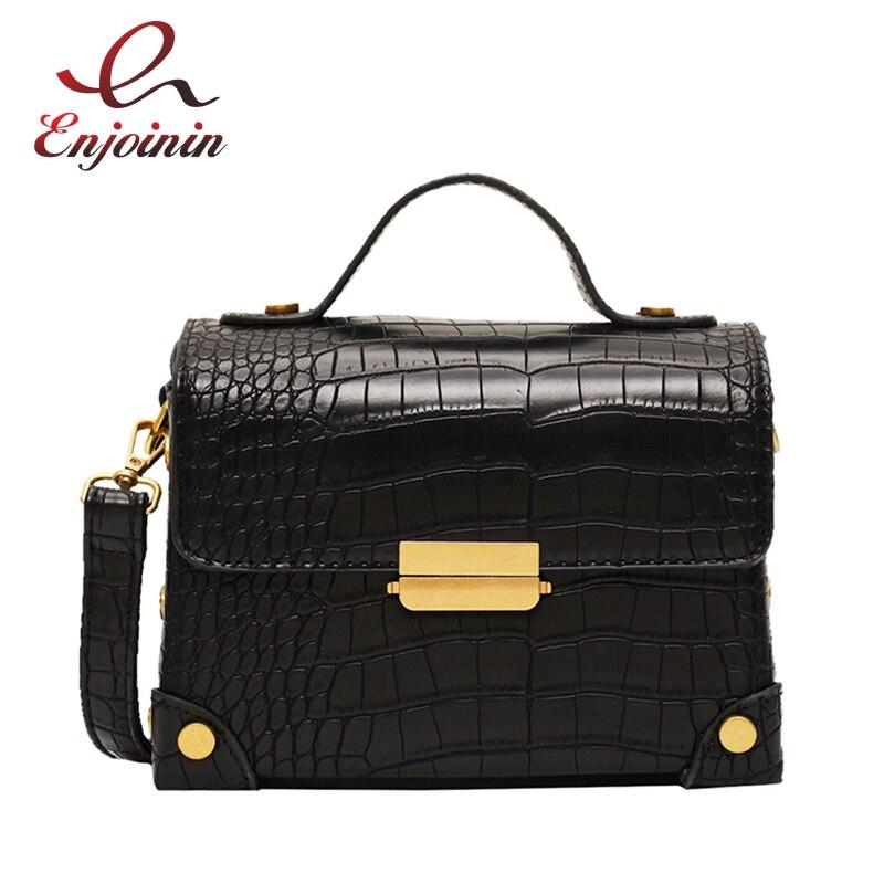 High Quality Stone Texture Buckle Women Pu Leather Handbag Shoulder Bag Crossbody Bag Handbag Female Casual Purse Tote Bag Bolsa