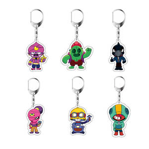 Anime Figure Keychain Action-Toys Collection Brawl-Game Stars Acrylic Heroes Cartoon