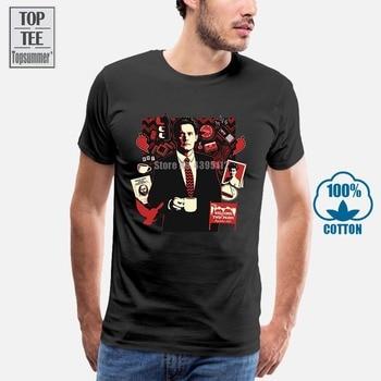 Twin Peaks T Shirt Men Print T-Shirts Short Sleeve цена 2017