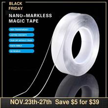 Traceless Washable Adhesive nano magic tape waterproof double sided Adhesive Grip tape for Fixing Carpet for Home Wall