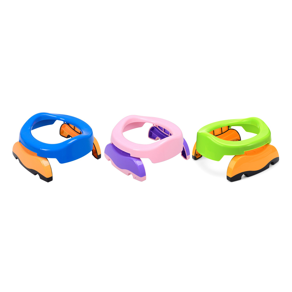 Hot 2 In 1 Portable Baby Infant Chamber Pots Foldaway Toilet Training Seat Travel Potty Rings With 10 Toilet Bags For Kids New