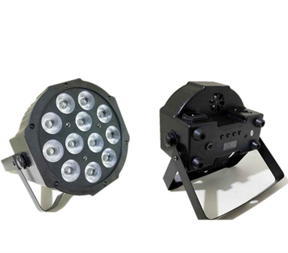 12x12W mené par dmx dj allume RGBW 4in1 plat par led dmx512 allume l'équipement professionnel d'étape de dj de disco