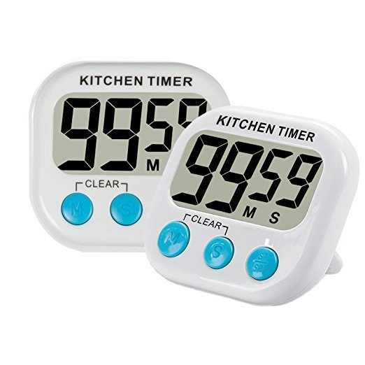 Magnetic LCD Digital Kitchen Countdown Timer Alarm with Stand White Kitchen Timer Practical Cooking Timer Alarm Clock