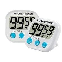 Manyetik LCD dijital mutfak geri sayım sayacı Alarm standı ile beyaz mutfak zamanlayıcı pratik mutfak zamanlayıcısı çalar saat