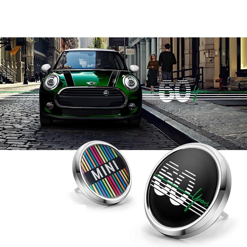 Car accessories exterior For BMW MINI COOPER S JCW F55 F56 F60 R55 R60 clubman Front Bumper Grill Metal 3D Emblem Badge Sticker Car Stickers     - title=