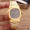 Luxe Merk Nieuwe Automatische Mechanische Mannen Horloge Geel Goud Rvs Transparant Sapphire Glas Grijs Blauw Zwart Horloges