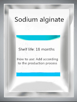 Sodium Alginate Food Grade Powdered Sodium Alginate Thickener Stabilizer