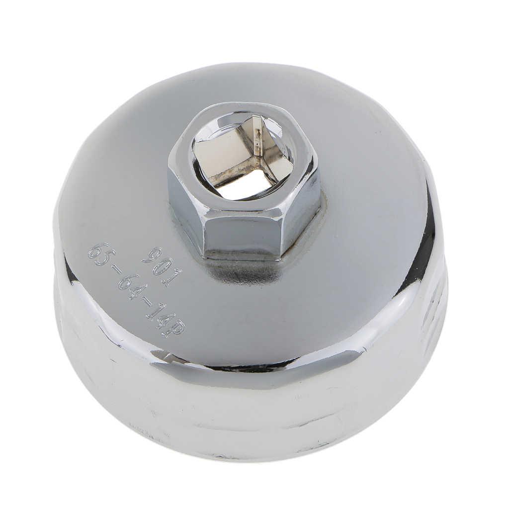 Llave de tapa de aluminio Herramienta 65 mm 14 flautas Llave de tapa de filtro de aceite