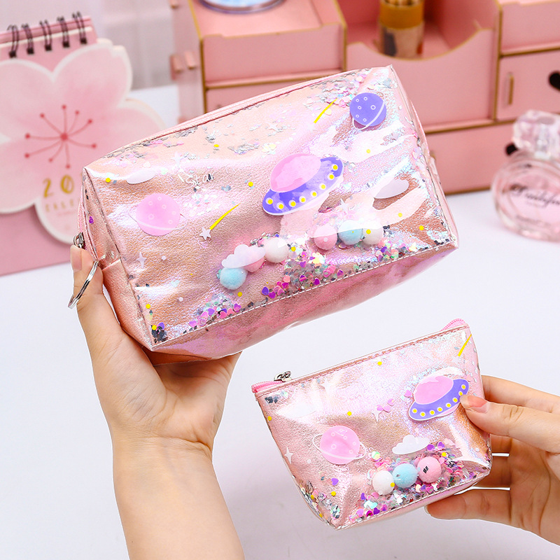 Miayhouse Fashion Laser Sequin Women Organizer Storage Make Up Bag Beauty Wash Pouch Case Female Cosmetic Bag