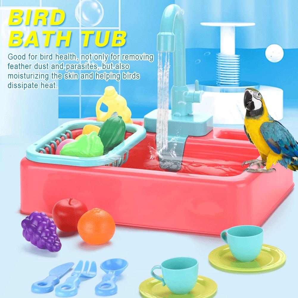 Papagaio chuveiro rotatable com torneira pássaro banho