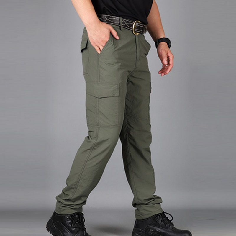MoneRffi Tactical Pants Men Summer Casual Army Military Style Mens Cargo Pants Waterproof Quick Dry Trousers Male Bottom