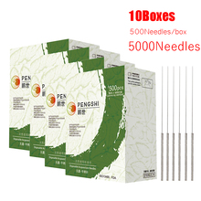 10 Boxes disposable Sterile Acupuncture Needles with Tube Single Use Surgical Steel needle Sharp Smooth 5000