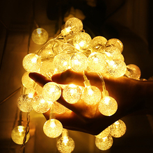 10M 100LED 6M 40LED Crystal Bubble Ball String Lights Garlands Battery Flash Fairy Lamp Outdoor For Christmas Holiday Home Decor