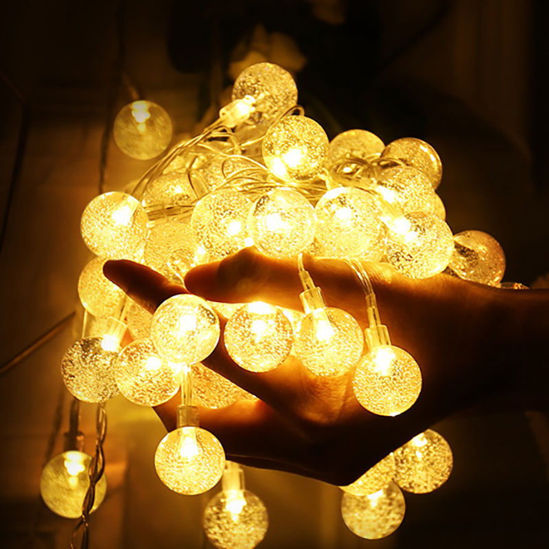 10M 100LED 6M 40LED Crystal Bubble Ball String <font><b>Lights</b></font> Garlands Battery Flash Fairy Lamp Outdoor <font><b>For</b></font> Christmas Holiday <font><b>Home</b></font> <font><b>Decor</b></font> image