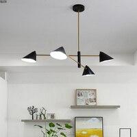 Современные светодиодные люстры скандинавские лофтовые светильники железные дома деко освещение гостиной подвесные светильники спальни