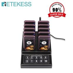 RETEKESS Restaurant Pager Wireless Waiter Paging Queuing Calling System pager for restaurant  waiter pagers for coffee shop