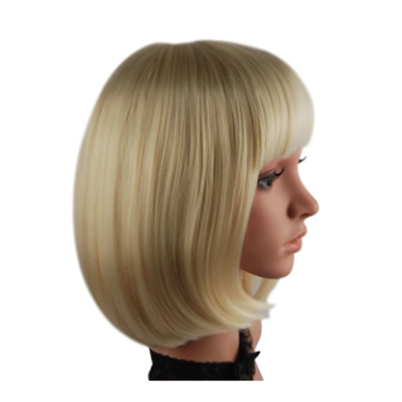 HAIRJOY Synthetic Hair Women  Blonde Short Straight Bobo Wig For Cosplay Party  8 Colors  Available