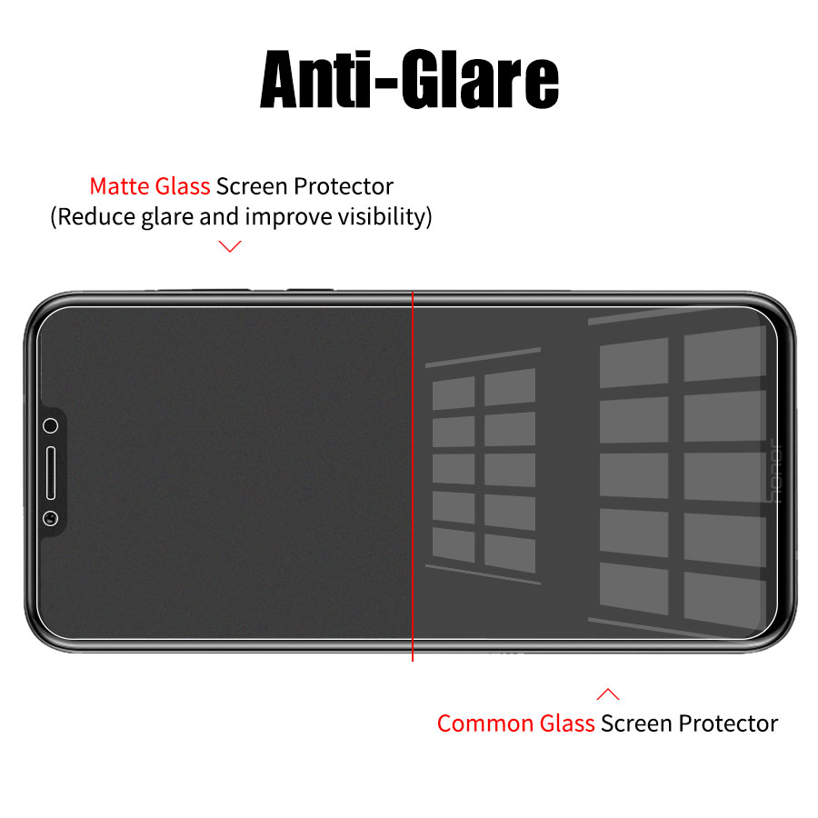 9H Clear Matte Frosted Tempered Screen Protector Glass Film for Huawei And Honor 4