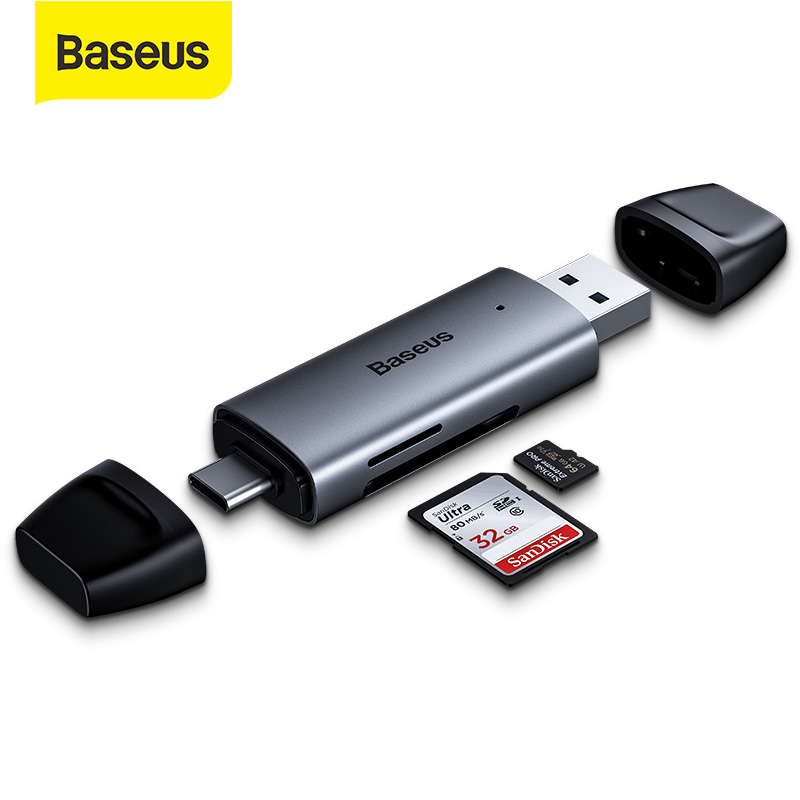 Baseus Card Reader Type C USB 3 0 to USB Micro SD TF Cardreader Adapter for Laptop Acessories Multi Smart Memory Card Reader