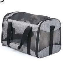 Sac de Transport pour animaux de compagnie, sacoche de Transport Portable pour chien et chat, à ouverture supérieure, amovible, maille, pliable, sacoche de Transport pour chien et chat