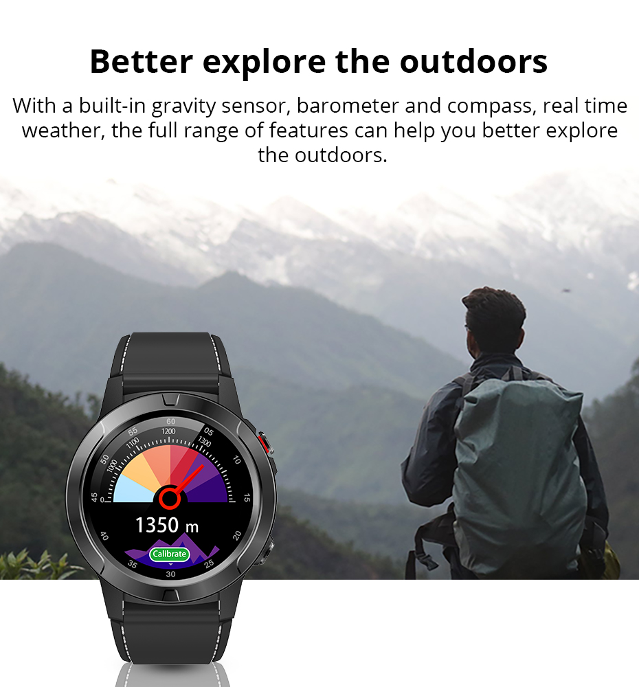 Makibes M4 Smart Watch Men Compass GPS Smartwatch Multi-language IP67 Waterproof Heart Rate Monitor Clock Call Message Reminder (13)