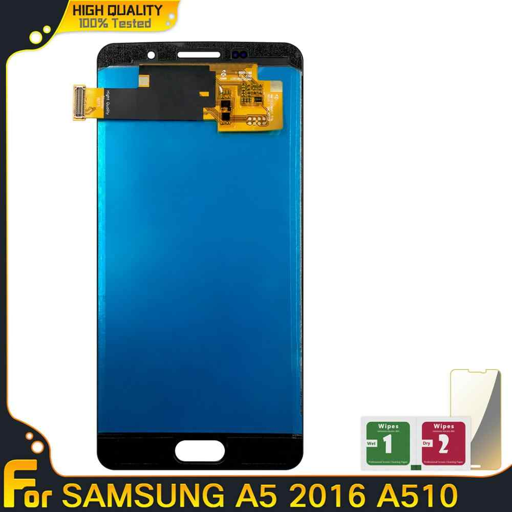 תצוגת LCD עבור סמסונג גלקסי A5 2016 A510 A510F A510M A510FD A5100 מגע מסך Digitizer עצרת A510 LCD Replacment חלקי