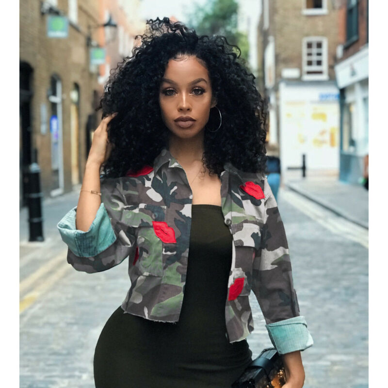 2020 Fashion Trend Women Camo Ladies Military Army Short Jacket Outwear Casual Stylish Slim Fitting Autumn Pre-fall New Tops