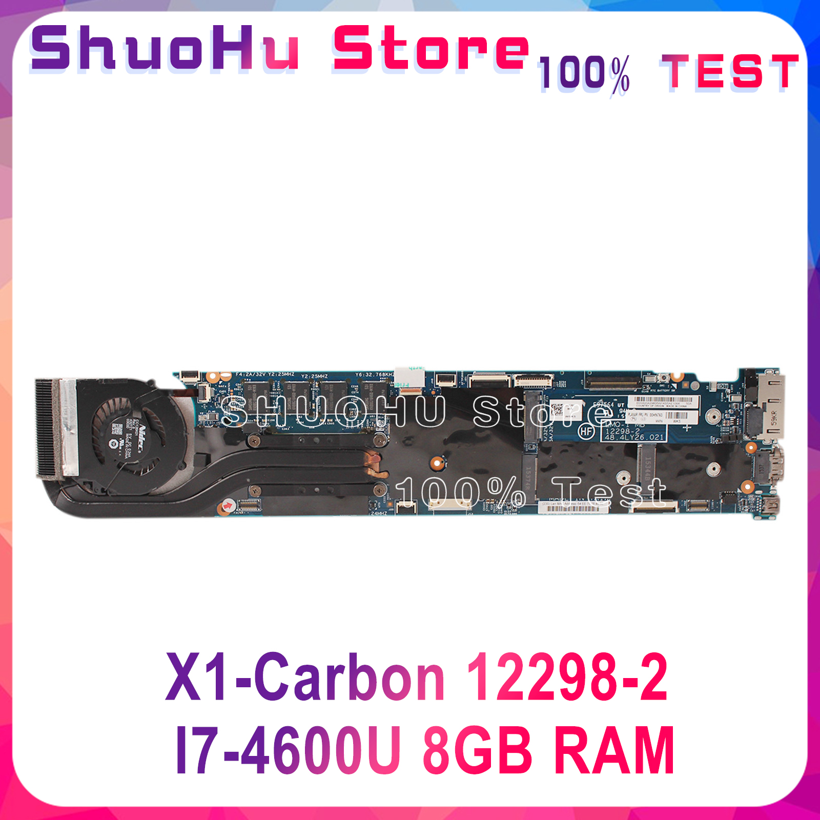 KEFU X1-Carbon motherboard for Lenovo thinkpad X1 X1C Laptop Motherboard 12298-2 <font><b>I7</b></font>-<font><b>4600U</b></font> CPU 8GB RAM original tested image