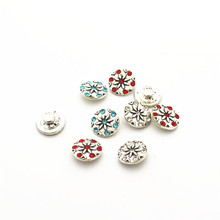 Wholesale 20pcs/lot metal crystal flower alloy button 12mm Glass Snap Buttons Fit DIY Snap Bracelet Snap Button Charms Jewelry hot selling 20pcs lot flower metal crystal alloy button 12mm snap buttons fit diy snap bracelet snap button charms jewelry