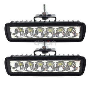Image 5 - 1PC 2PCS 6 inch Led Light Bar Offroad Flood Spot Work Light 18W Led Working Lights Car Accessories for Truck ATV 4x4 SUV 12V 24V