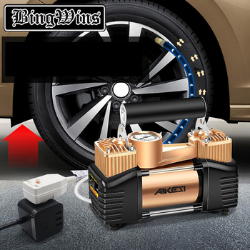220 V double cylinder vehicle mounted air pump air pump for household high pressure small portable electric vehicle