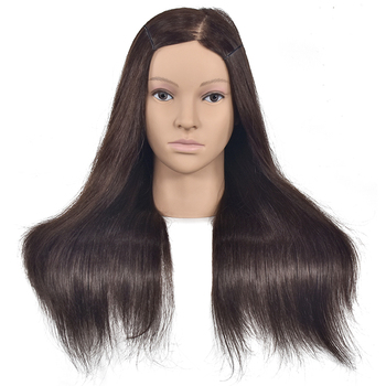 18inch Training Head Hairdressing Practice Mannequin Doll Head Can Be Curl