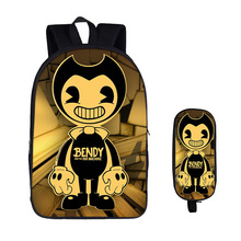 Teenager bendy and the ink machine school bags set kids back