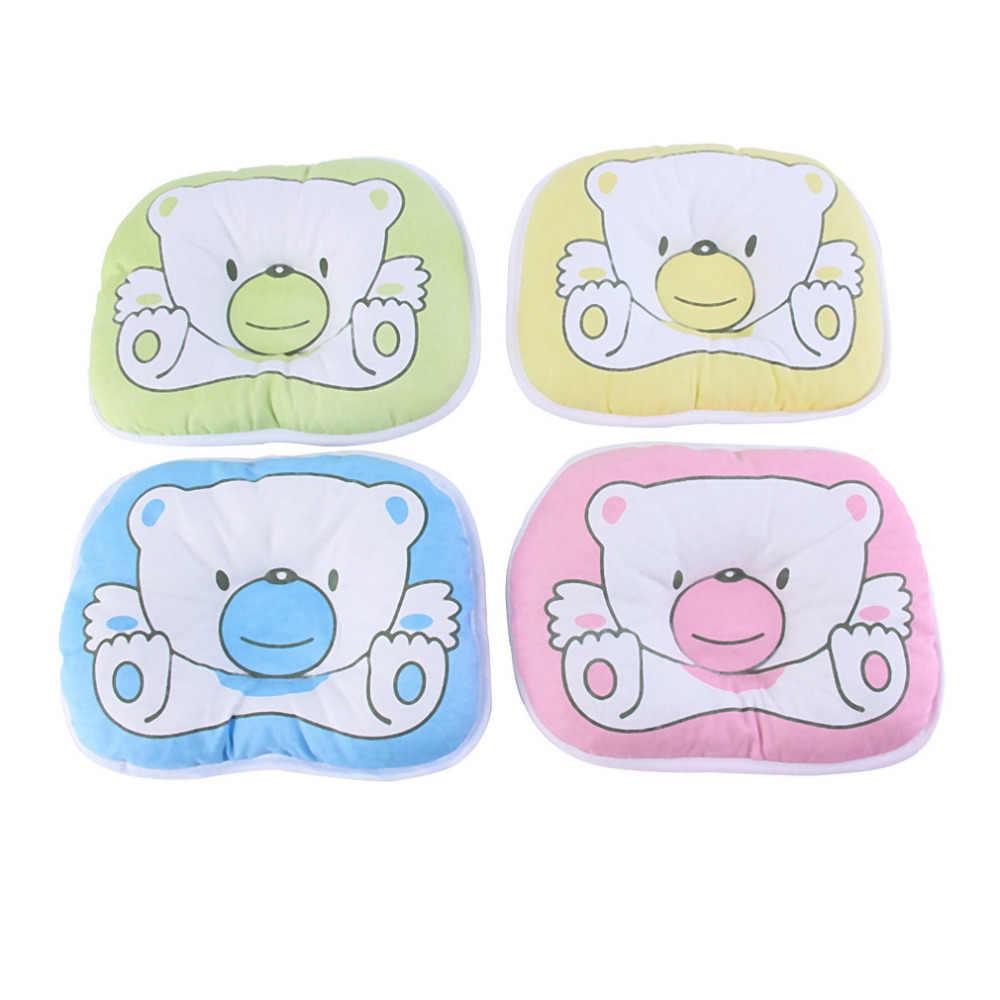 Outad urso padrão travesseiro bebê recém-nascido infantil suporte almofada evitar cabeça plana venda quente