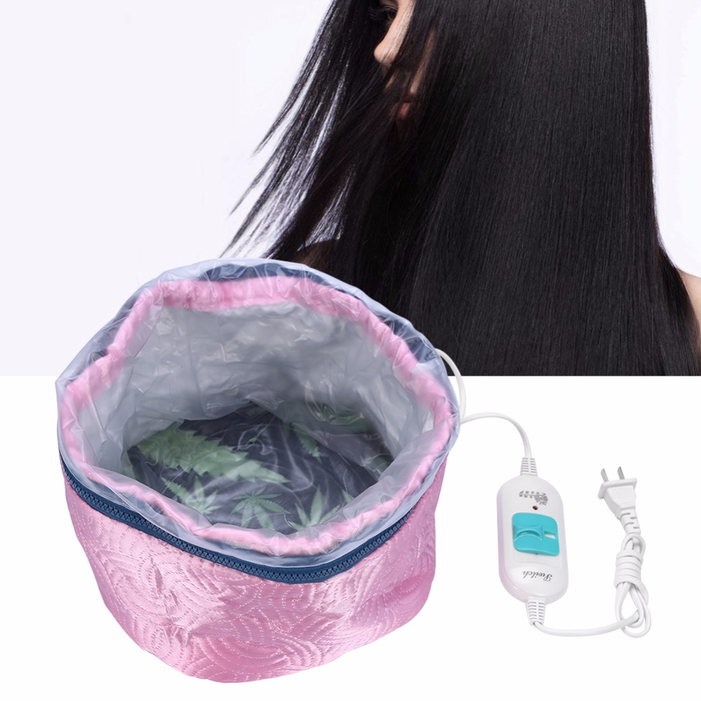 Hair Mask Baking Oil Cap Thermal Treatment Heating Cap Temperature Controlling Protection Electric Hair Steamer Mask Cap220V