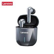 Nowy Lenovo XG01 TWS słuchawki bezprzewodowy zestaw słuchawkowy Bluetooth 5.0 słuchawki do gier bez opóźnień HiFi dźwięk douszne z mikrofonem LED Light
