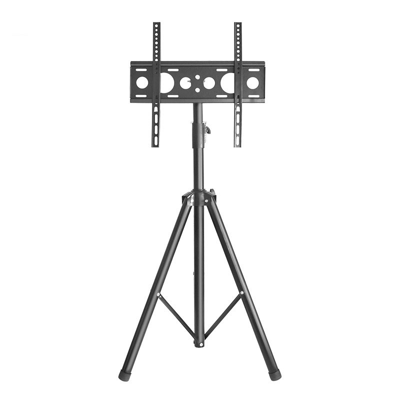 Black TV Tripod 26 to 55 inch LCD LED Flat Screen TV Display Floor Stand, Portable Height Adjustable TV cabinet