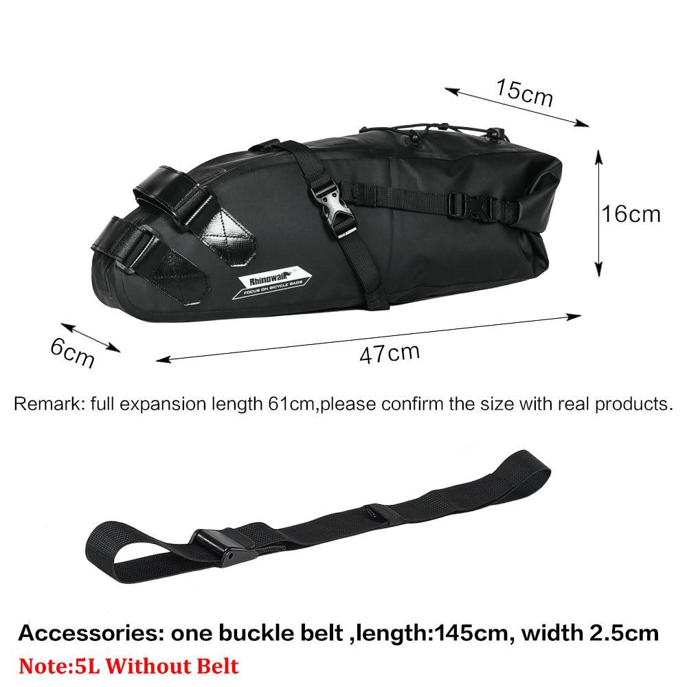 Купить с кэшбэком RHINOWALK 10L 12L Full Waterproof Bicycle Saddle Bag Road Mountain Bike Cycling Rear Rack Bag Luggage Pannier Bike Accessories