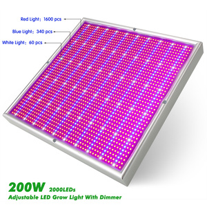 Image 3 - 2000LED Grow Light With Dimmer AC85~265V Indoor Greenhouse Tent Hydroponic Aquarium 200W Full Spectrum Adjustable Led Grow Lamp
