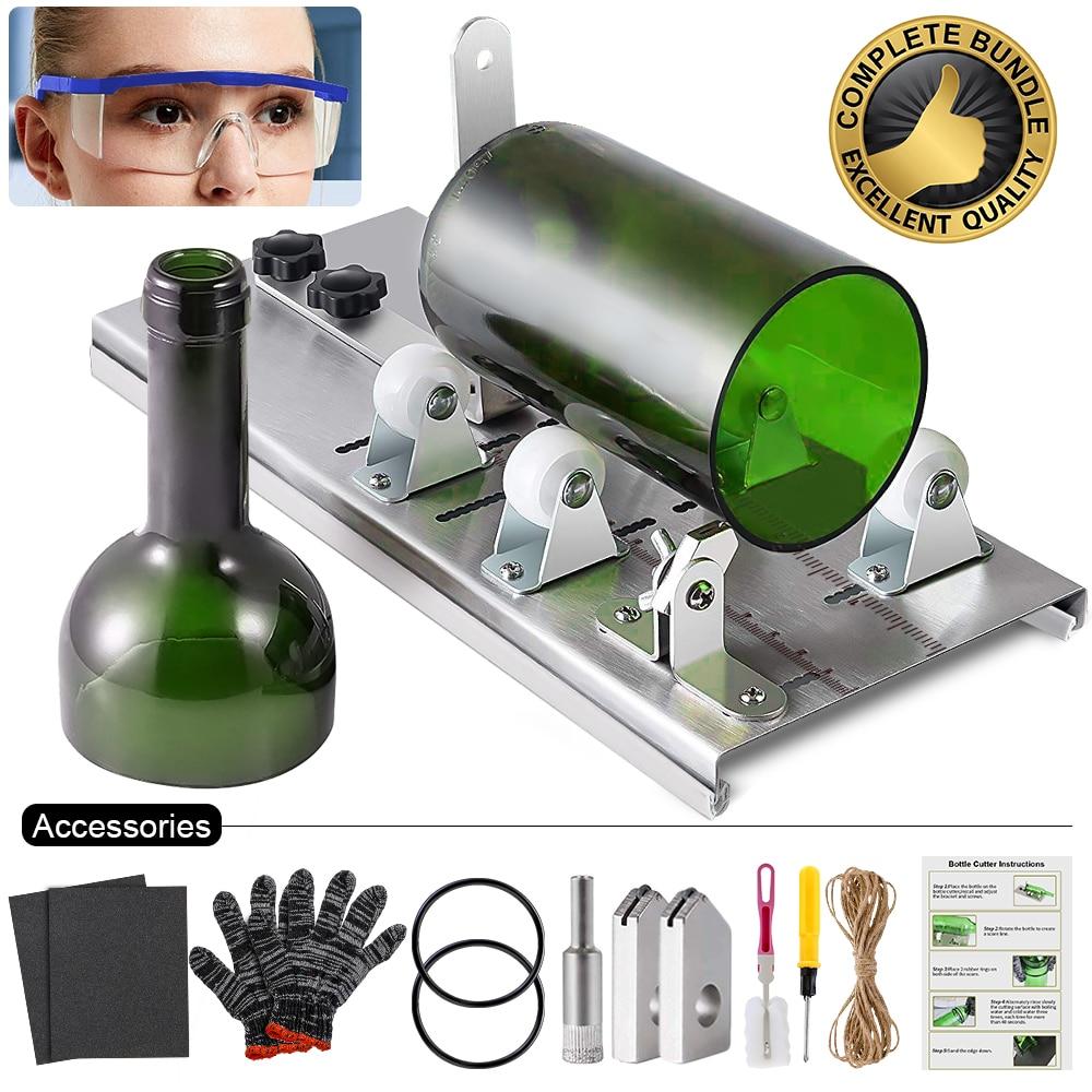 Glass Bottle Cutter Cutting Thickness 3-10mm Aluminum Alloy Better Cutting Control Create Glass Sculptures Bottle Cutting Tools