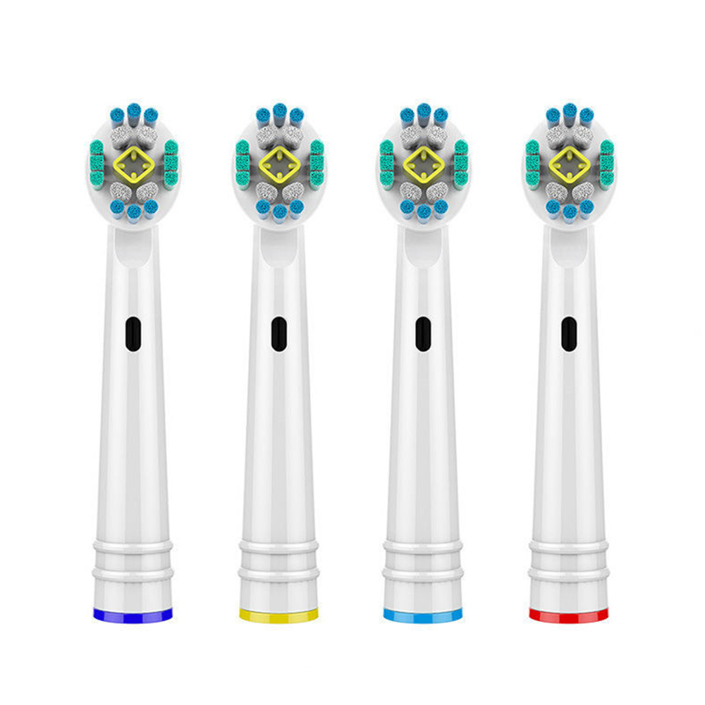 4 PCS Electric Toothbrush Heads for Oral B Braun 3D Toothbrush Heads Replacement Brush Heads Fit Advance Power/Pro Health image