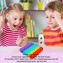 Fitget jouets Pop It jeu pour adulte enfant pousser bulle Fidget jouet sensoriel autisme besoins spéciaux anti-Stress Popoit Figet Speelgoed
