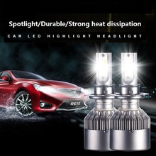 2Pcs C6 H4 H7 H11 H8 9006 HB4 H1 LED Bulb HB3 LED Far COB Auto Car LED Headlight xenon 36W 4000LM High Low Beam Bulb canbus Lamp цена 2017