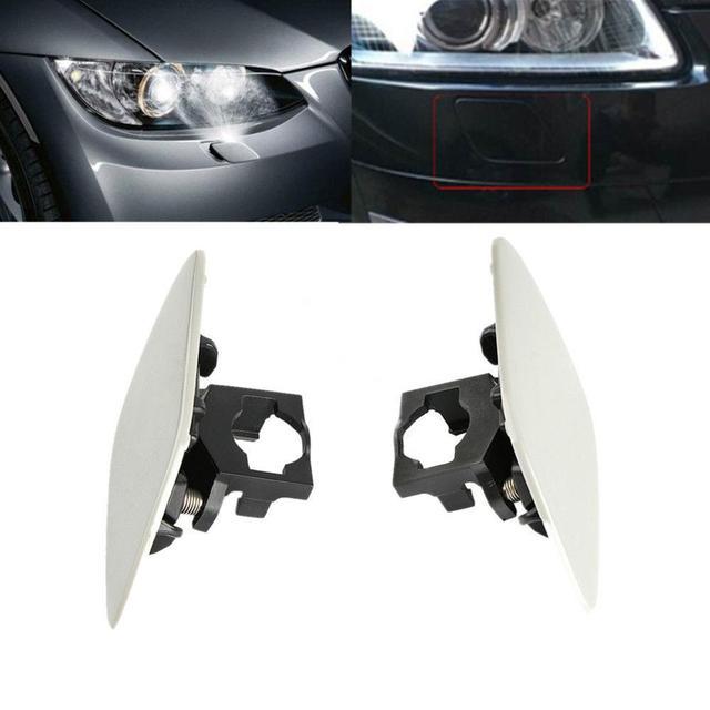 1 paar Auto Koplamp Koplampsproeiers Cover Cap Front Light Lamp Cover Voor BMW E92 Coupe E93 Convertible 328i 328xi 335i xDrive