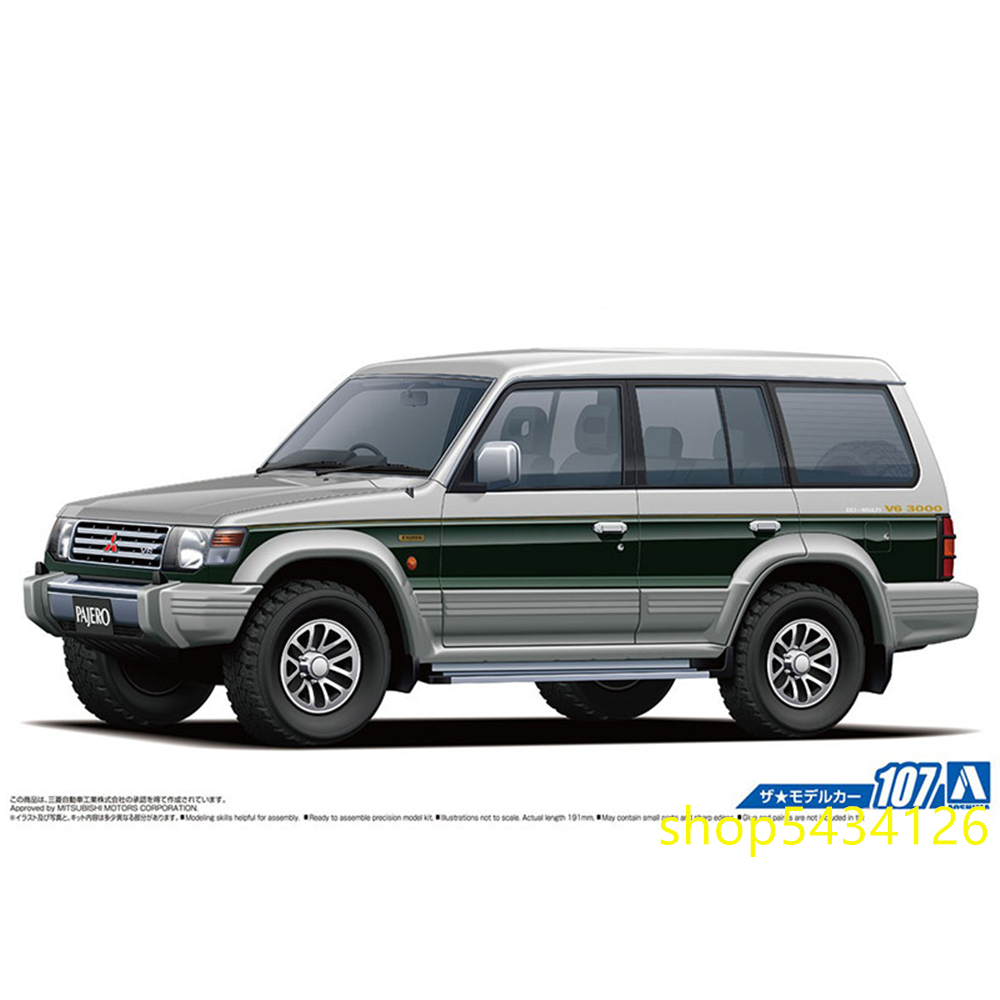 Toy Car Assembly Model 1/24 Scale Pajero Exceed `91 Building Kits For Children & Adults
