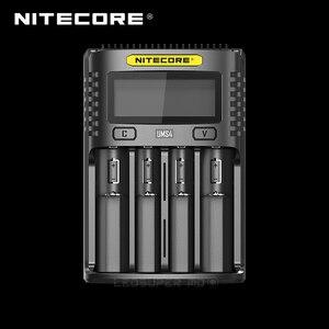 ЖК-дисплей NITECORE UMS4 / UMS2 Интеллектуальный USB Четыре слота превосходное зарядное устройство