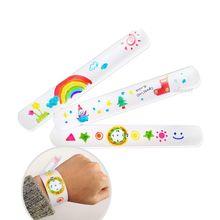 12 Pcs DIY Blank Slap Bracelets Party Favors Easter Gifts for Kids Art Craft