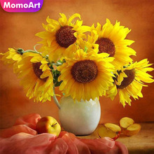 MomoArt Diamond Painting Sunflowers Embroidery Full Square New Arrival Picture Of Rhinestone Room Decoration