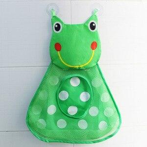Image 2 - 赤ちゃんのおもちゃのアヒルメッシュバッグ風呂の浴槽人形オーガナイザー吸引浴室風呂のおもちゃものネットベビーキッズおもちゃバスゲームバッグ子供