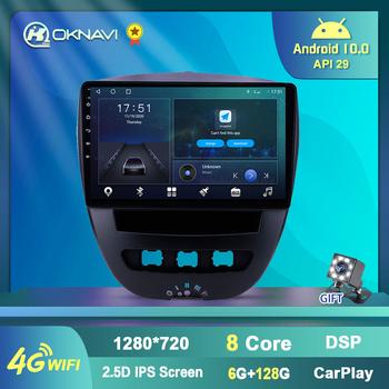 Z systemem Android 10 samochodów multimedialny odtwarzacz wideo dla Peugeot 107 Toyota Aygo Citroen C1 2005-2014 Radio stereofoniczne z GPS nawigacji 4G WIFI BT tanie i dobre opinie NAVISTART CN (pochodzenie) podwójne złącze DIN NONE 4*45W 128G System operacyjny Android 10 0 JPEG 1024*600 1 98kg bluetooth